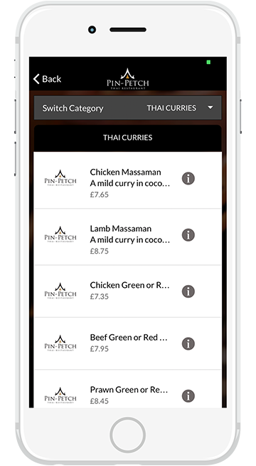 Pin-Petch Thai Restaurant Newport Pagnell Apps